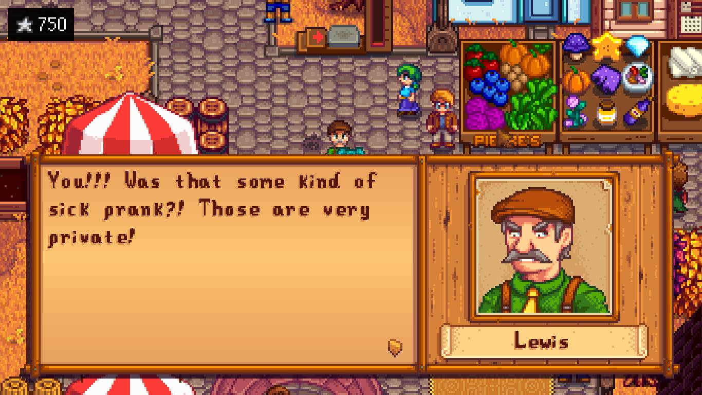 Mayor Lewis' underpants